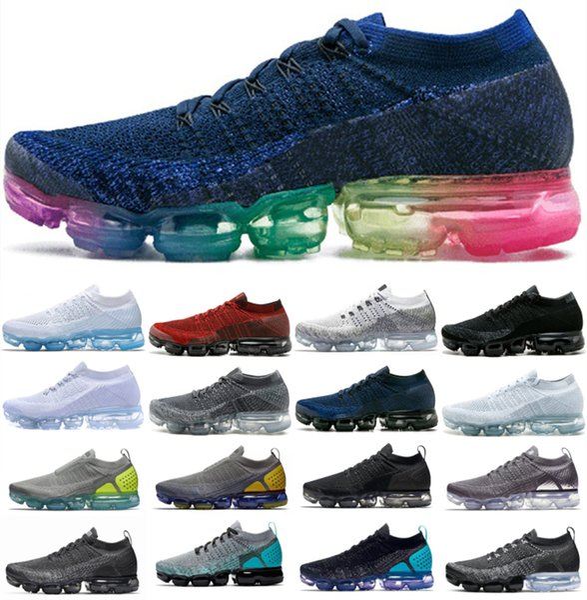 top popular 2019 Knit 2.0 3.0 Fly 1.0 Running Shoes Men Women Zebra Triple Black Heritage cushion Vast Dusty Cactus Trainer Sneakers 2019