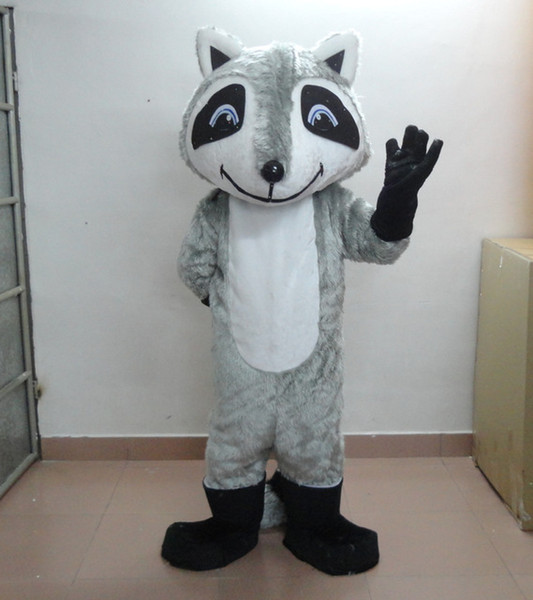 Professional custom Gray Fox Mascot Costume Character Animal Mascot Clothes Christmas Halloween Party Fancy Dress