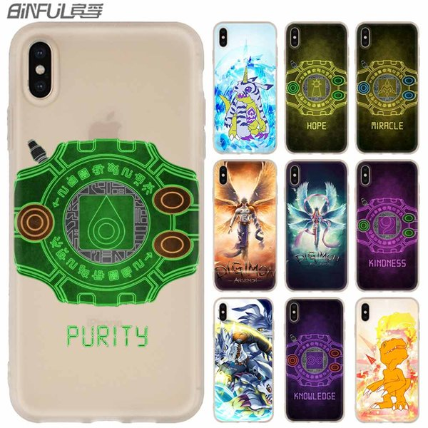 digimon logo phone cases luxury silicone soft cover for iphone xi r 2019 x xs max xr 6 6s 7 8 plus 5 4s se coque