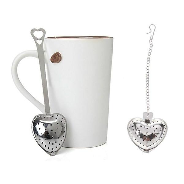 4cm Dia Heart Shaped Tea Strainers Stainless Steel Infuser Adjustable Herb Loose Leaf Filter Tea Bags DHL