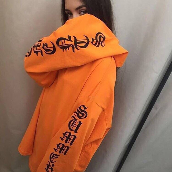 2016SS oversized t shirt urban clothing swag harajuku kanye west men long sleeve letter printed justin bieber tee C19011001