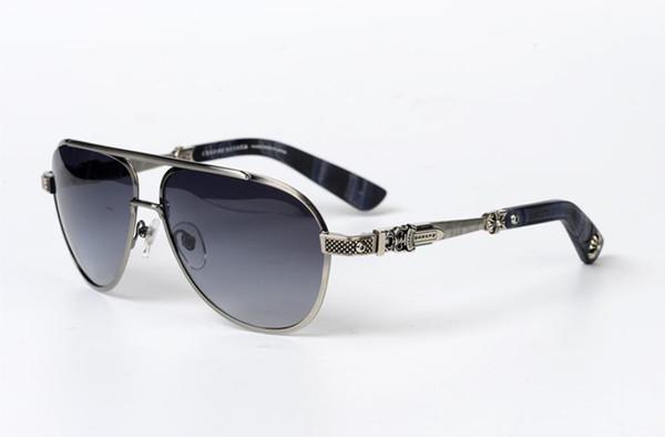 Gafas de sol marco cromado de gran tamaño gafas de sol de las mujeres de los hombres cuadrado grande para los hombres gafas de sol del conductor de conducción Marca Gafas de sol con la caja original