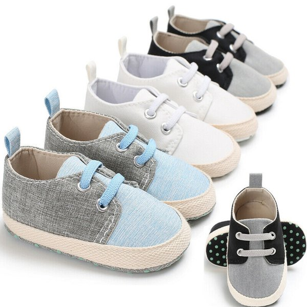 0-12M Toddlers Baby Boys Girl Soft Sole Pram Shoes Crib Trainers Casual Sneakers