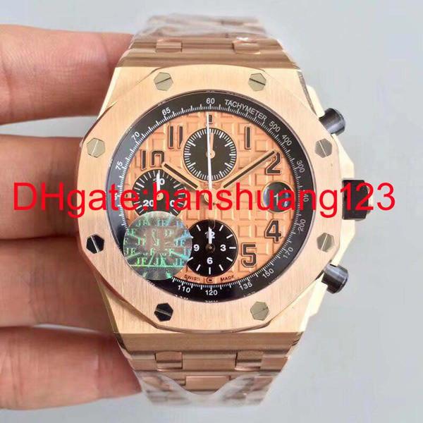 2019new produit super A montre en acier inoxydable de qualité des hommes en or 18 carats importé Cla.3126 automatique machines 42mm26470 montre pour hommes