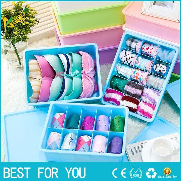 New Hot Hoomall Multi-size Bra Underwear Organizer Home Storage Box PP Wardrobe Drawer Closet Organizer For Scarfs Socks