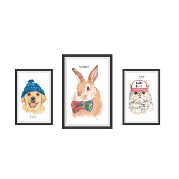 Duvar Çıkartmaları Ev Duvar Dekor Hayvanlar Fotoğraf Çerçevesi Çocuk Odası yatak odası Dekorasyon DIY Pet Avatar Posteri Duvar Kağıdı Duvar Çıkartmaları