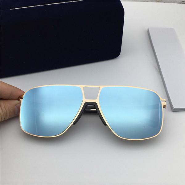 Оптово-новые популярные модные солнцезащитные очки MYKITA OAK Сверхлегкий квадратный металлический каркас Солнцезащитные очки высшего качества UV400 Цветная пленочная линза с коробкой