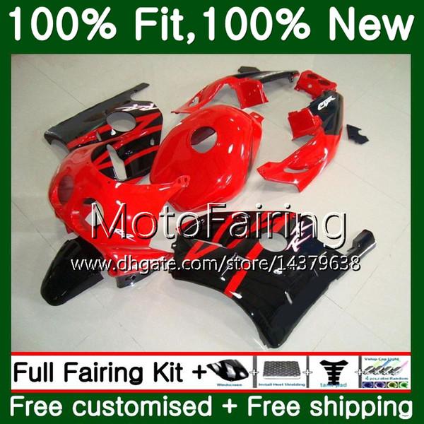 Injection +Tank For HONDA CBR 250RR CBR250RR 95 96 97 98 99 77MF17 MC22 CBR250 RR 1995 1996 1997 1998 1999 Stock red blk Fairing Bodywork