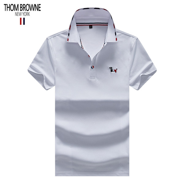 THOM polo BROWNE designer shirts mens polos brand polo American famous designer shirts classic embroidery polos quality tee Counter 1:1