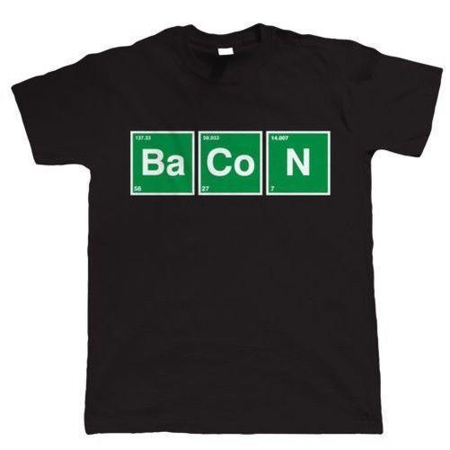 Bacon Periodic Table, Funny Mens T Shirt