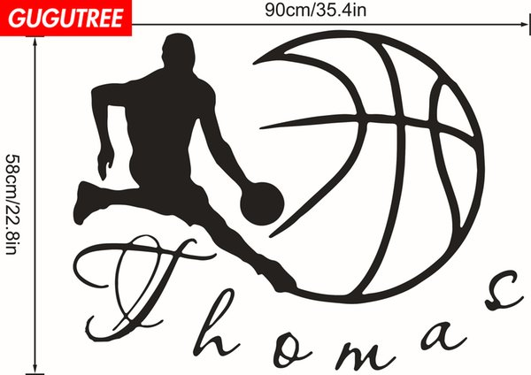 Decorate Home basketball cartoon art wall sticker decoration Decals mural painting Removable Decor Wallpaper G-2205