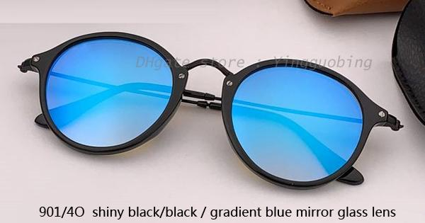 901/4O shiny black /gradient blue mirror