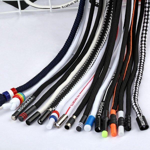 Pantalones deportivos Correa con cordón 1 pieza 1.3m Gabardina con cabeza de metal Cinturón de cuerda en blanco y negro Cintura Suéter de cuerda Personalidad Dec