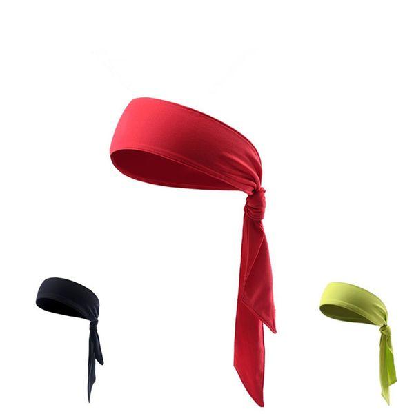 Men Women Outdoor Sports Sweatband Headband Yoga Gym Head Band Running Tennis Fitness Head Sweat Bands 0815 #71865
