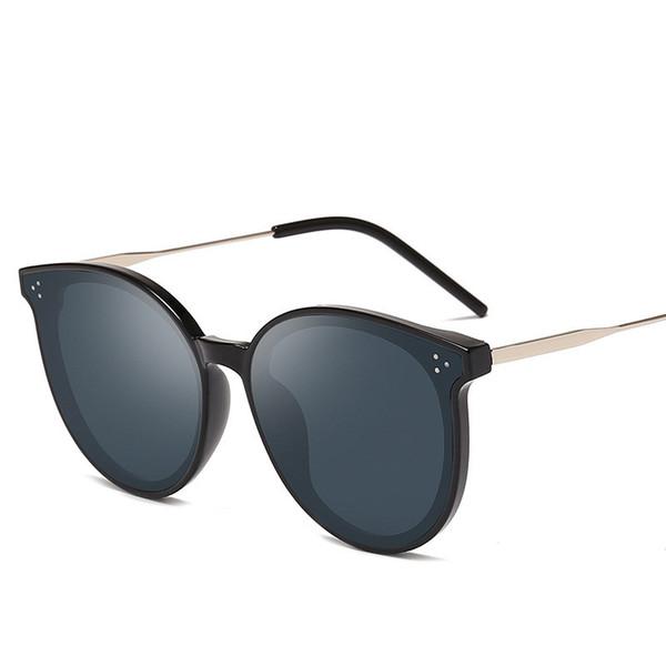 Designer de moda Olho de Gato Óculos Mulheres Óculos De Sol De Grandes Dimensões Óculos de Sol Do Vintage Escudo Feminino Óculos Óculos de Proteção Óculos De Sol Redondos Gafas de sol