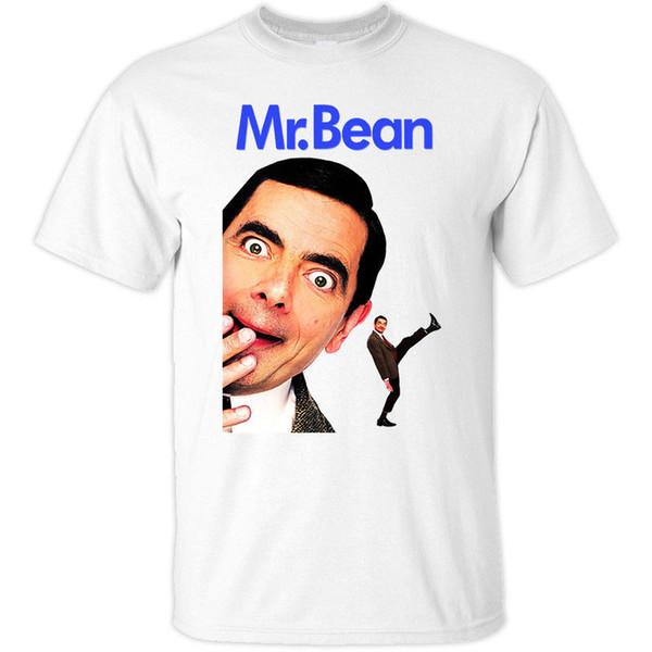 Mr Bean V1, Rowan Atkinson, TV Dizileri, Tişört (BEYAZ, SARI) tüm boyutları Casual gurur t gömlek erkekler Unisex Moda Soğuk