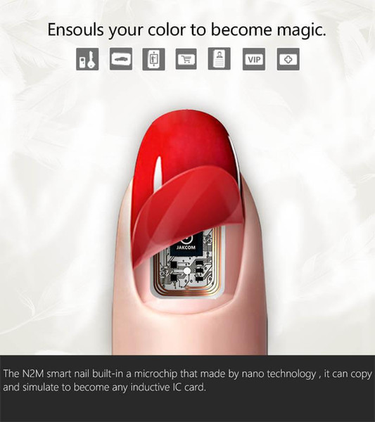 Pole Control N2 Smart Fingernagel Simulat IC-Karte verbinden Telefon Flash LED Smart Maniküre New Smart Wearable Gadget N2M N2F N2L Nail Art