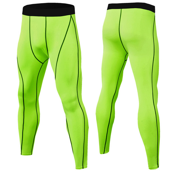 Fashion-Wholesale 2019 Compression Pants Men Muscle Training Tights Gym Pants Running Joggers Fitness Trousers Leggings Sport Jogging Pants