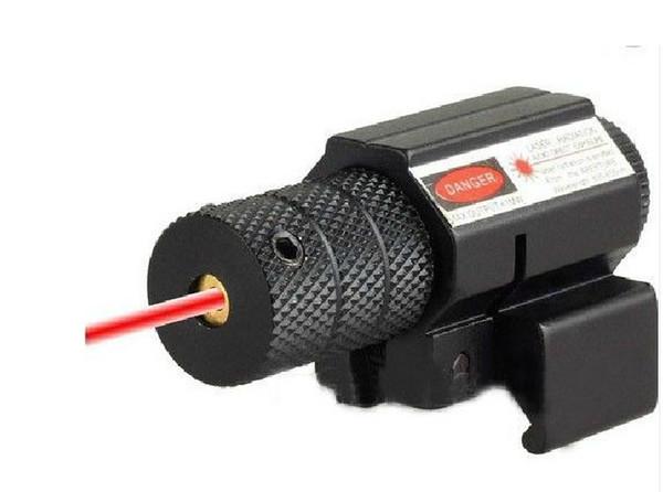 2pcs / lot tactique laser rouge Lazer faisceau faisceau Dot Sight Scope w / Mount Gun Fusil Pistolet Chasse