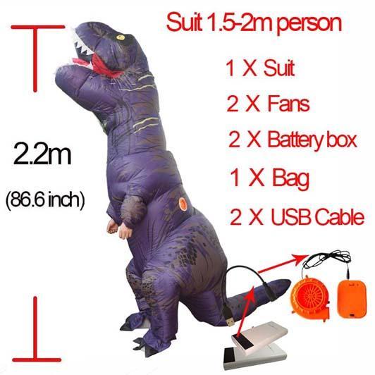 Purple L Dinosauro gonfiabile