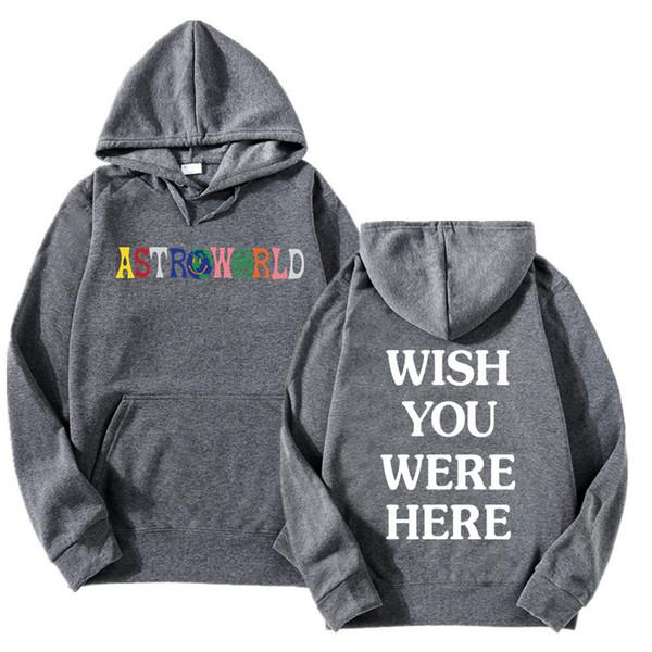 Astroworld Hoodie Mens hochwertige Designer Fleece Sweatshirts Kostenloser Versand Stickerei Hip Hop Pullover New Travis Hoodies
