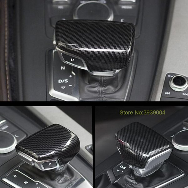 For Audi A3 S3 A4L A5 Q5 Q7 A6 S6 S7 A6L 1PC ABS Chrome Gear Shift Knob Sticker Frame Cover Trim Moldings Car Styling