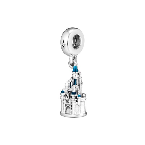 Fits for Pandora Charms Bracelets Cinderella Castle Beads 100% 925 Sterling Silver Jewelry Free Shipping