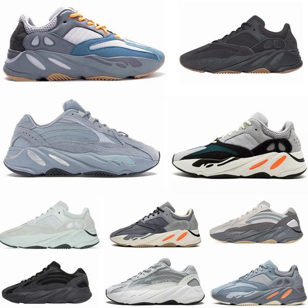 top popular 700 Wave Runner Mauve Vanta Hospital Blue Men Running Shoes Kanye West 700 V2 Designer Shoes Sport Sneakers 36-46 With Box 2019