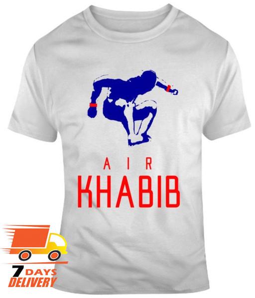 Khabib Nurmagomedov Air Khabib MMA Fan V2 White T-Shirt for Men Size S-3XL