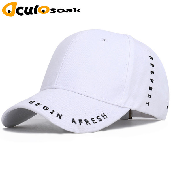 High Quality Letter Embroidered Baseball Cap Simple Casual Hat Summer Spring Man Woman Trend Black Adjustable Snapback Bone