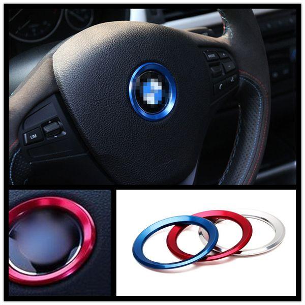 Yüksek Kaliteli Araba Direksiyon Sticker Merkezi Amblem Styling Etiketler BMW M X1 X3 X4 5 6 Araba İç Trim Dekorasyon