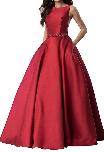 2019 Real Burgundy Prom Dresses V Neck Sleeveless A Line Floor Length Appliques Lace up With Pearl Soft Tulle Evening Graduation Dresses
