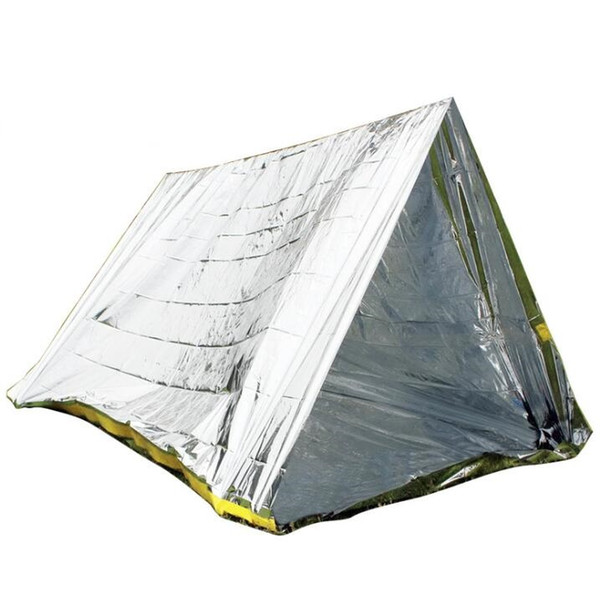 Outdoor First aid tent Emergency shelter warm Survival blanket shelter tent sun-proof PE aluminium coating shelters tents camp climbing pads
