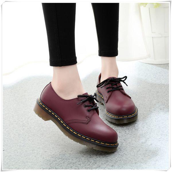 Couro Sapatos Oxford Para As Mulheres Sapatos Casuais Formais Das Mulheres Lace Up Sapatos de Vestido de Negócios Escritório Sapato Do Vintage