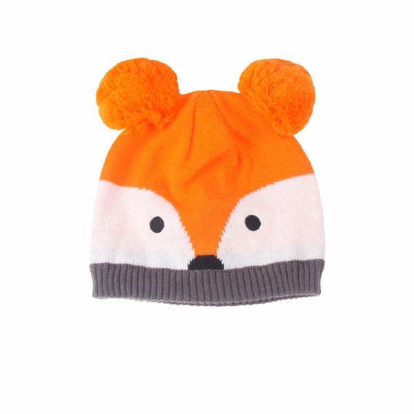 cartoon beanies winter hat for baby girls boys Knitted Hat for Babies with Earflap 0-2T cute cap