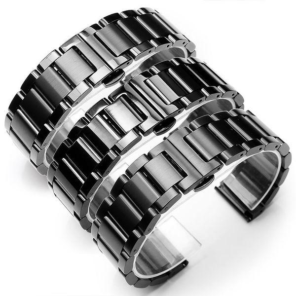 Solid 304L Stainless Steel Bracelets Silver Metal Watch Band Bracelet Wrist Watches Bracelet 18mm 20mm 21mm 22mm 23mm 24mm