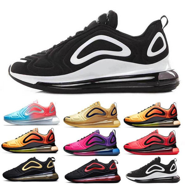 2019 New Shoes Full Cushioned Men Women Neon Triple Black Carbon Grey Sunset Metallic Silver Chaussures Running Shoes EUR Size 36-45 KL53