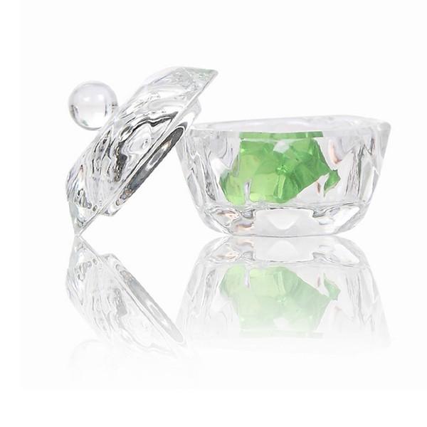 Crystal Glass Dappen Dish/Lid Bowl Cup Acrylic Nail Art Equipment Mini Bowl Cups Crystal Glass Dish Nail Art Tools