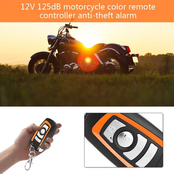 2-way Motorcycle Alarm with Engine Start Remote Control Key Fob Anti-theft Security Alarm System Universal alarma moto 125db ABS