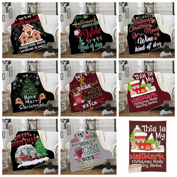 Navidad invierno manta con capucha portátil para niños y adultos decoración cálida cama suave hogar tiro sofá manta al aire libre gadgets ZZA1138