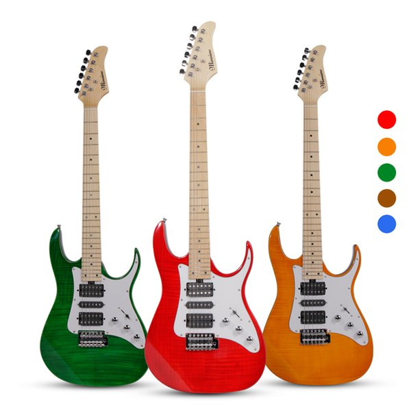 Minsine MS-160 Rock Electric Guitar Double Pickups Effects Set Performance Graffiti Tiger stripes Electric guitar