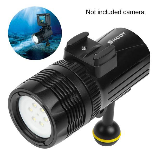 XTGP460 Dim Su Geçirmez Eylem Kamera Dayanıklı Dalış Işık Gopro Hero Için Parlak Şarj Edilebilir Aksesuarları Açık Alüminyum