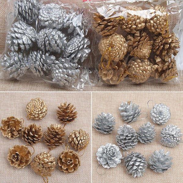4pcs un pas nouveau cadeau chaud décor à la maison noël noël arbre décoration cônes de pin ornements