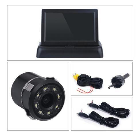 4.3 inch Night Vison Rear View Backup Camera With Color LCD Car Video Foldable Monitor Kit Car Auto Parking Assistance