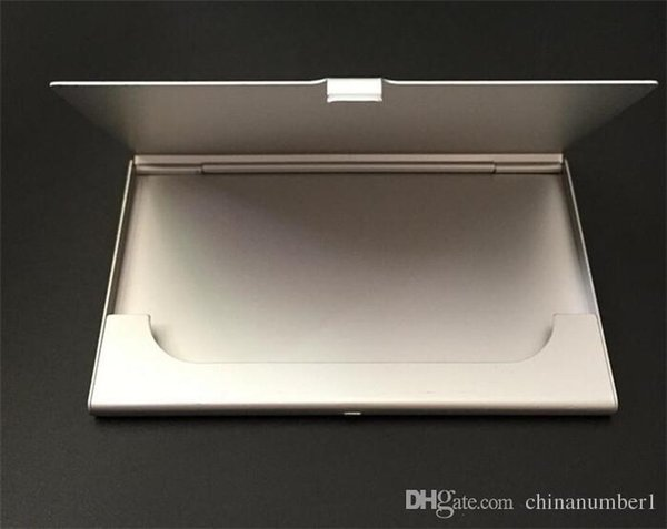 İşletme Adı Kredi Kimlik Kartı Vaka Tutucu Alüminyum Kartvizitlik Kart Dosyaları Alüminyum Gümüş Renk C158