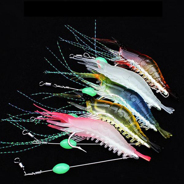 5 colors 9cm 5.2g Shrimp Hook Silicone Lures Fishing Lure Soft Baits Fishing Hooks Fishhooks Artificial Bait Fishing Tackle LJJZ303