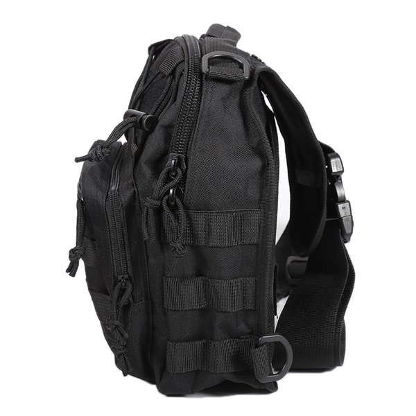 Military Tactical Assault Pack Croosbody Chest Bag Backpack Army Molle Waterproof Bag Small Rucksack for Outdoor Hiking Camping #266098