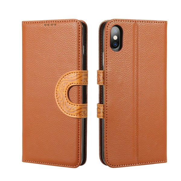 Lanyard Case For iphone 6 6s 7 8 plus X Xs XR Xs MAX Leather Flip Wallet totem Cover