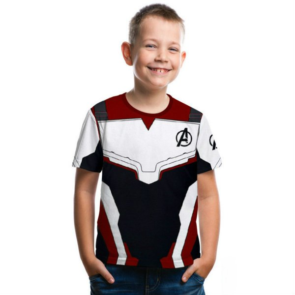 Avengers 4 Quantum Realm Kids Cosplay Short Sleeve 2019 Kids Summer New Round Neck T-Shirt Tops