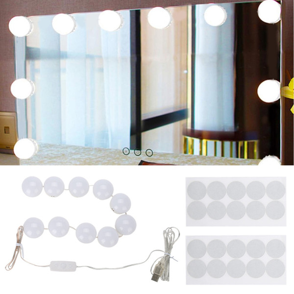 10 Bulbs LED Makeup Mirror Lights Dimmable Bulb Warm/Cold Tones Dressing Mirror Decorative Light Brightness lights Makeup Bulb